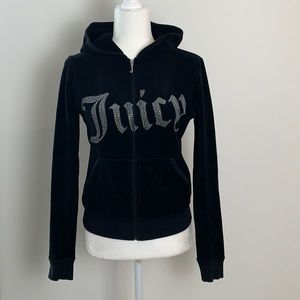 Juicy Couture Velour Full Zip-Up Hoodie